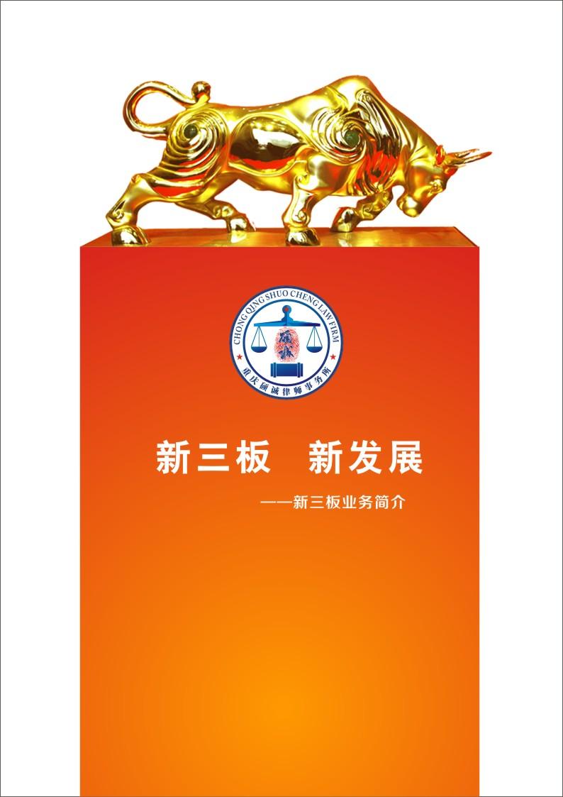 重庆硕诚律师事务所新三板宣传册