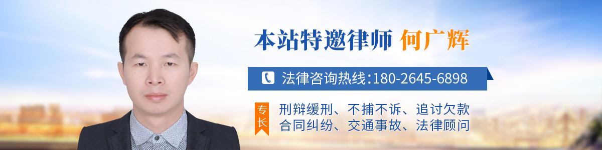 惠东县律师-何广辉律师